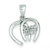 Double Horseshoe Good Luck Charm in Sterling Silver