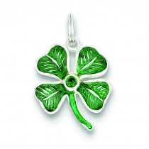 Leaf Clover Charm in Sterling Silver