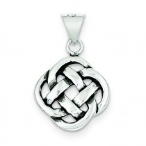 Antiqued Celtic Knot Pendant in Sterling Silver