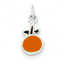 Orange Charm in Sterling Silver