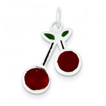 Cherries Charm in Sterling Silver