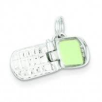 Cell Phone Charm in Sterling Silver