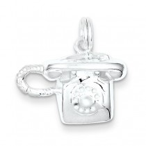 Telephone Charm in Sterling Silver