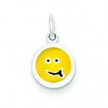 Emotion Face Charm in Sterling Silver