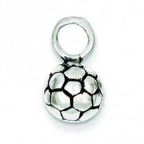 Antiqued Soccer Ball Charm in Sterling Silver