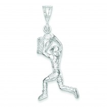 Basketball Player Charm in Sterling Silver
