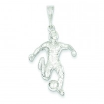 Soccer Player Charm in Sterling Silver