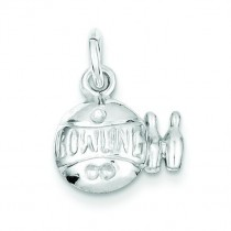 Bowling Ball Charm in Sterling Silver