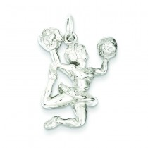 Cheerleader Charm in Sterling Silver