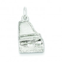 Grand Piano Charm in Sterling Silver
