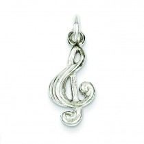 Treble Clef Charm in Sterling Silver