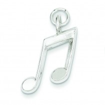 Music Notes Charm in Sterling Silver