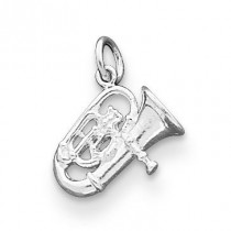 Tuba Charm in Sterling Silver