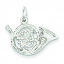 French Horn Charm in Sterling Silver