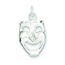 Comedy Mask Charm in Sterling Silver