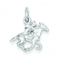 Horse Rider Charm in Sterling Silver