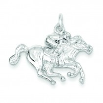 Race Horse Charm in Sterling Silver