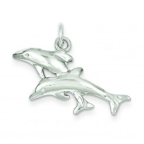 Dolphins Charm in Sterling Silver