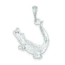 Alligator Charm in Sterling Silver