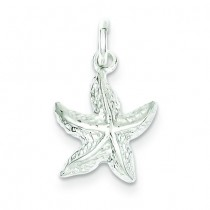 Starfish Charm in Sterling Silver