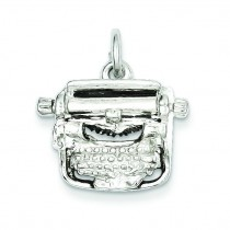 Typewriter Charm in Sterling Silver