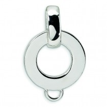 Charm Holder Pendant in Sterling Silver