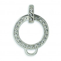 CZ Charm Holder Pendant in Sterling Silver