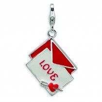 Love Letter Lobster Clasp Charm in Sterling Silver