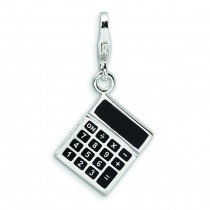 Calculator Lobster Clasp Charm in Sterling Silver