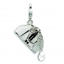 Purse Lobster Clasp Charm in Sterling Silver
