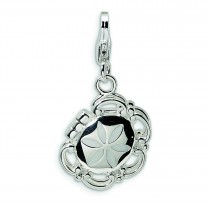 Compact Lobster Clasp Charm in Sterling Silver