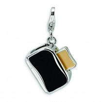 Toaster Toast Lobster Clasp Charm in Sterling Silver