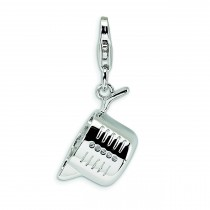 Measuring Cup Lobster Clasp Charm in Sterling Silver