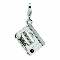 Toaster Oven Lobster Clasp Charm in Sterling Silver