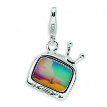 Tv Lobster Clasp Charm in Sterling Silver