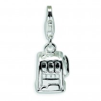 Slot Machine Lobster Clasp Charm in Sterling Silver