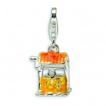 Well Lobster Clasp Charm in Sterling Silver