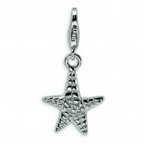 Starfish Lobster Clasp Charm in Sterling Silver