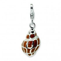 Shell Lobster Clasp Charm in Sterling Silver