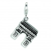 Arc De Triumph Lobster Clasp Charm in Sterling Silver
