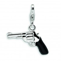 Pistol Lobster Clasp Charm in Sterling Silver