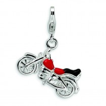 Motorcycle Lobster Clasp Charm in Sterling Silver