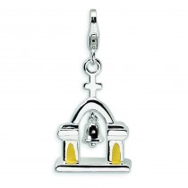 Church Moving Bell Lobster Clasp Charm in Sterling Silver