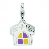 Church Lobster Clasp Charm in Sterling Silver