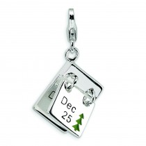 Dec Lobster Clasp Charm in Sterling Silver