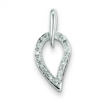 Diamond Pendant in Sterling Silver