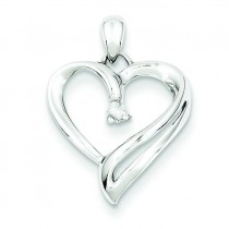 Diamond Heart Pendant in Sterling Silver