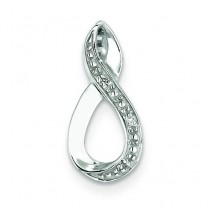 Diamond Figure Pendant in Sterling Silver