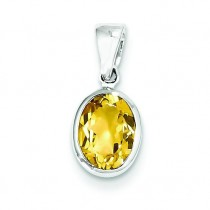 Citrine Pendant in Sterling Silver
