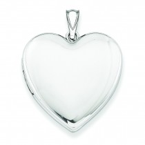 Plain Heart Locket in Sterling Silver